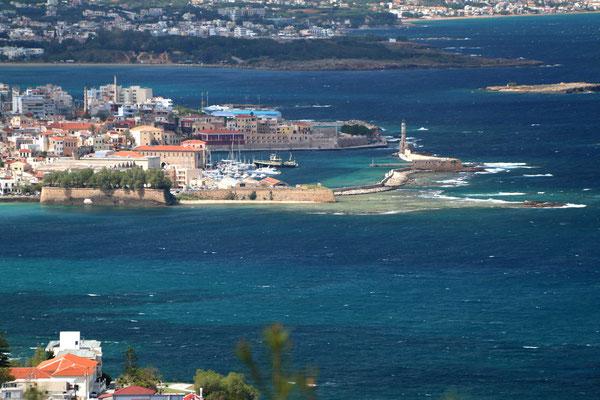 Chania Hafen mit Leuchtturm