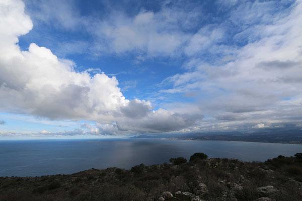 Blick nach Rethymno ...