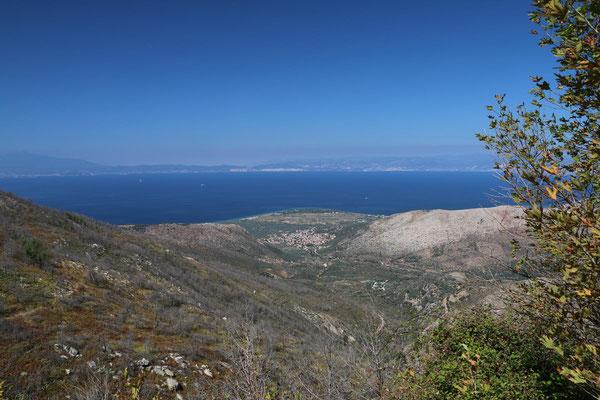 Blick nach Kavala