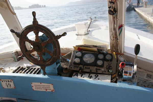 Überfahrt mit dem kleinen Taxiboot...