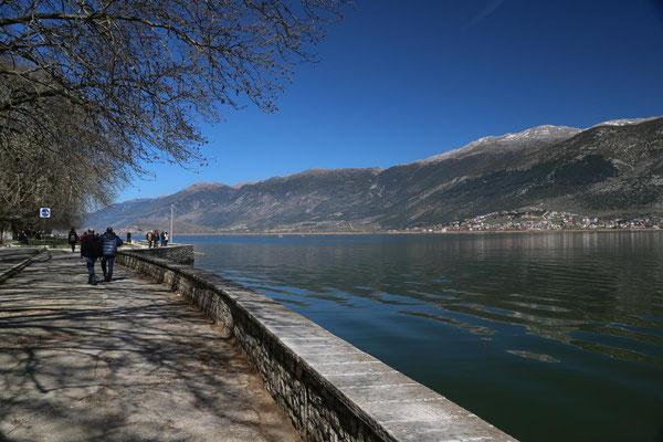 Blick über den Pamvotida-See