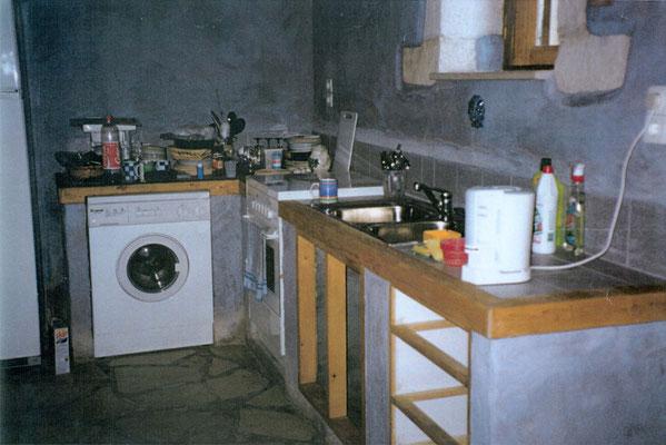 die Küche wurde gebaut