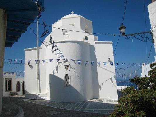 Panagia Korphiatissa, Kirche im Ort Milos