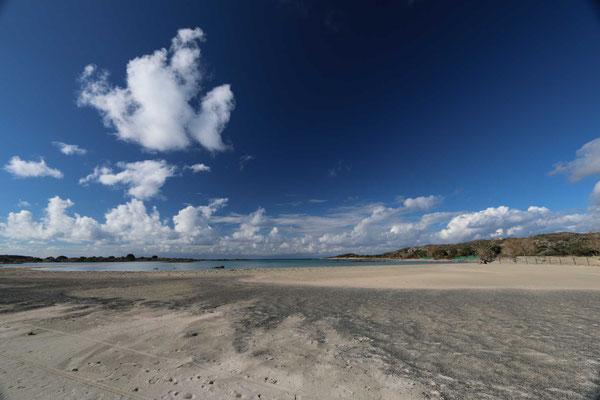 Der - sich ständig ändernde - Strand vor Elafonisi ...