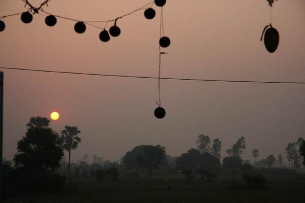 Sonnenuntergang in Siam Reap