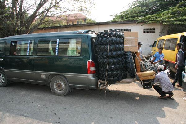 Unser Taxi...da passt immer noch was rein