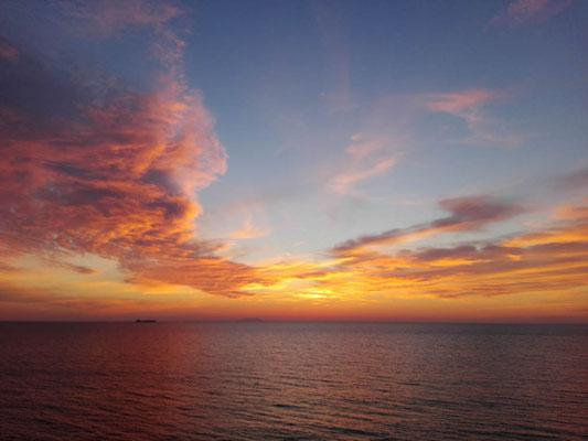 Sonnenuntergang irgendwo am Mittelmeer