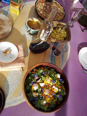 Ein Festmahl aus dem garten