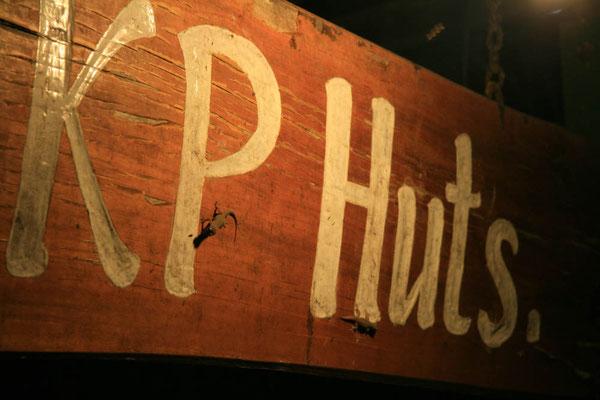KP-Huts, nicht Hippie-Huts (ein Insider)