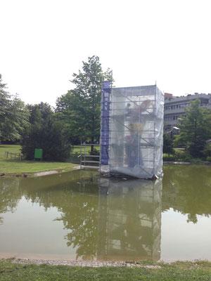 Sonderkonstruktion im Wasser