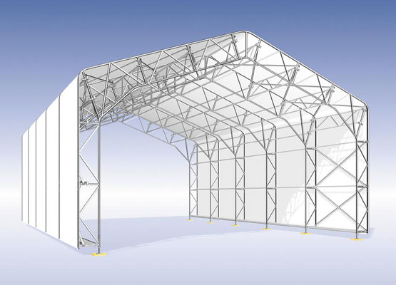 Mack Gerüstbau Wetterschutzdach Kederhalle