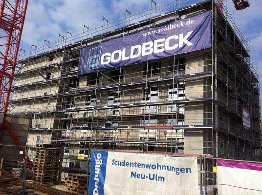 Fassadengerüst Studentenwohnanlage Neu-Ulm