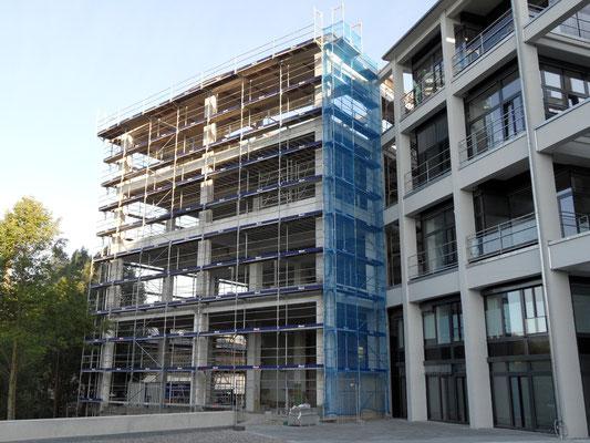 Fassadengerüst Stadtregal Ulm