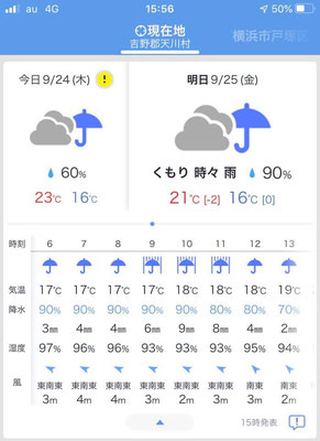 台風直撃にはならなかったが、日程の半分6日が雨の日々でした。