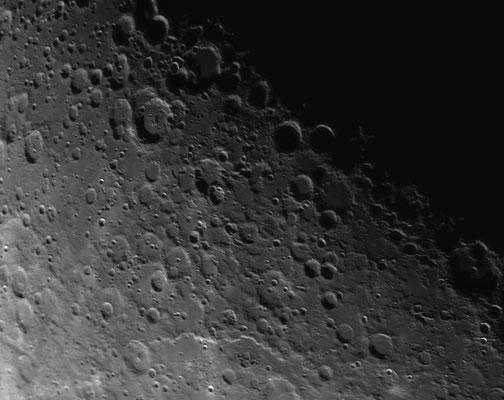 Mond bei schlechten Seeing. Aufnahme von 18.11.2015