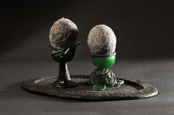 King and Queen of Eggland, iced pdv, H12xW25xD17cm