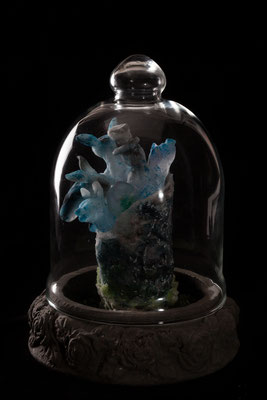 casted glass, iced pdv , mixed media