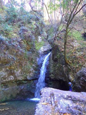 七代の滝。大小7つの滝の一つ。