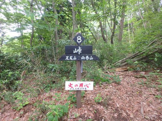 峠。標識が多数あるので、道迷いはしません。