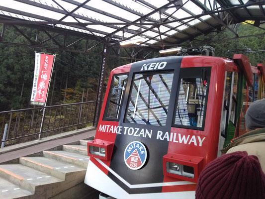 御岳登山鉄道「滝本駅」よりケーブルカーで「御岳山駅」へ。