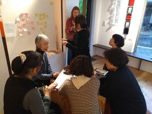 Symposium: Yumiko, Shoko, Chikako und Gast