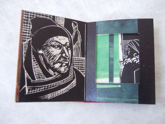 Transit/ rot, Linolschnitt, Collage, Cutout