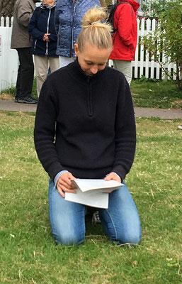 Katja Just: Lesung an der Kirchwarft