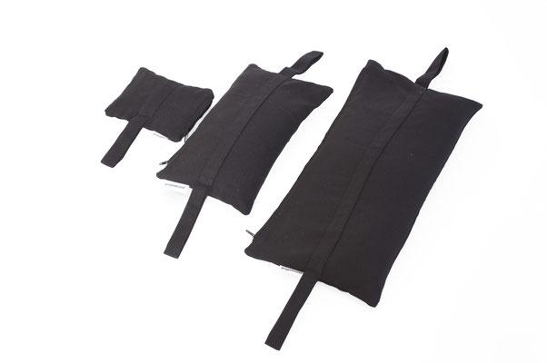 yogawood Sandsäcke Schwarz, 3 Größen