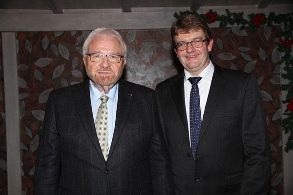 Vorsitzender und Ehrenvorsitzender: Wolfgang Huhmann und Henning Wünsch. Foto: Joachim Hähn