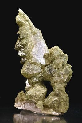 Fadenquarz mit Chlorit; F: Rotlaui, BE; H: 6cm; Sammlung M. Nägeli. Foto: Copyright © 2017 by Olivier Roth, Switzerland