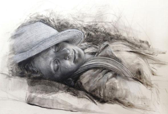 Sommer 42x60 cm, Private Collection, Pastell und Kreidestifte auf Papier, 2014