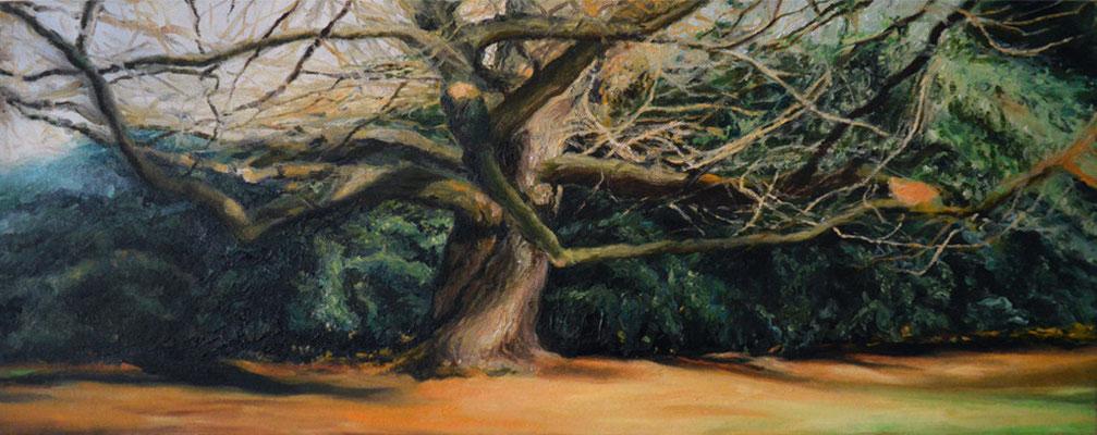 Märchenbaum, 20x50 cm, Öl auf Leinwand, 2010