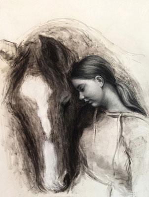 Carla 42x60 cm, Pastell auf Papier, 2014
