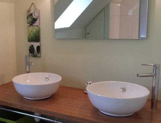 double vasque avec grande douche