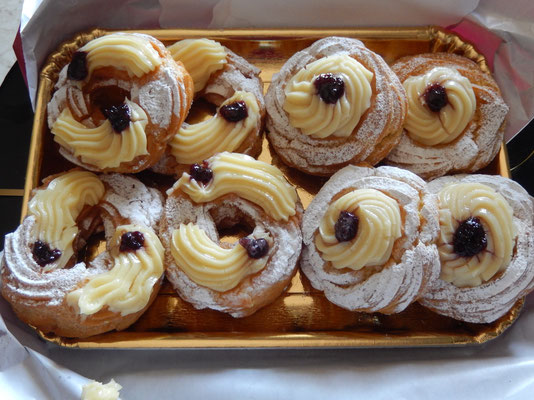 "St. Joseph and Father's Day. ""Zeppole"", traditional cake for the day"