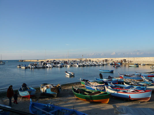 Bari, fisherman's boats