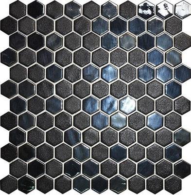 Hexagono Stoneglass Opalo Black