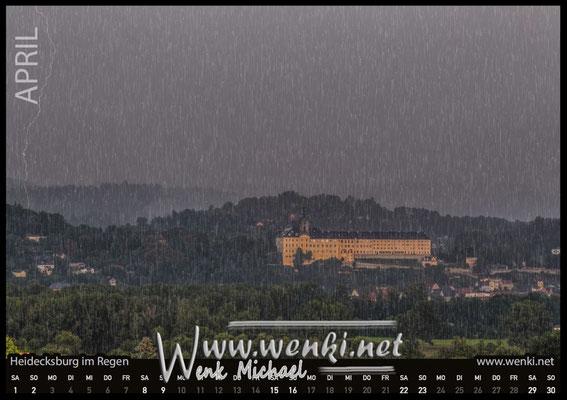 Rudolstadt-Heidecksburg im Regen