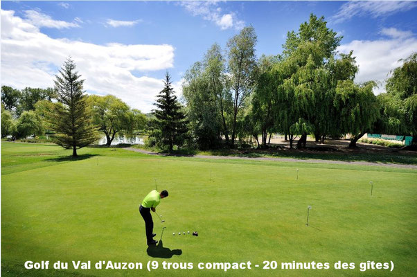 Golf du Val d'Auzon (9 trous compact - 20 minutes des gîtes)