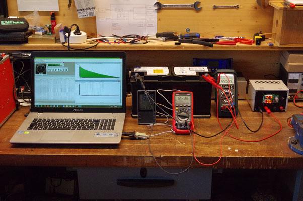 Kapazitätsmessung einer AGM Batterie