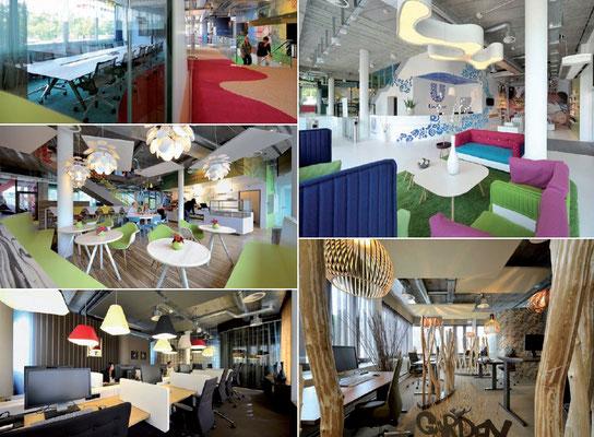 Büroplanung und Innenarchitektur Schaffhausen, Zürich, Bern und Basel