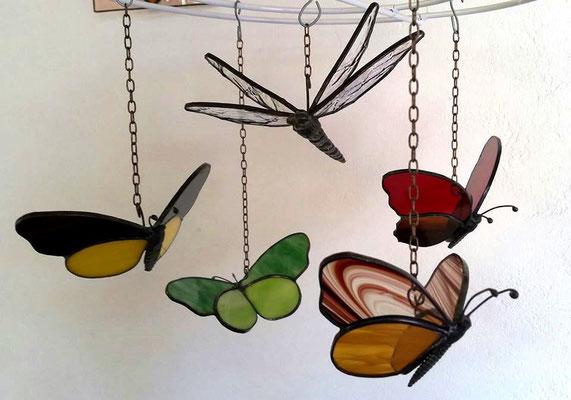 Glas in lood vlinders