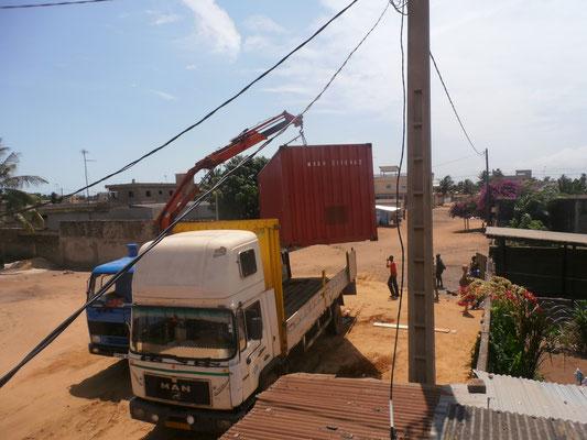 Der Lastwagen konnte nicht wegfahren.