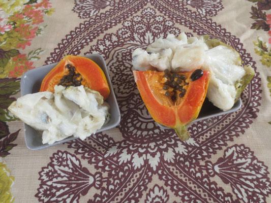Papaya und Korosol für die Tourakous
