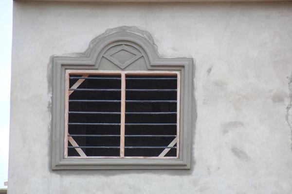Dekoration um das Fenster