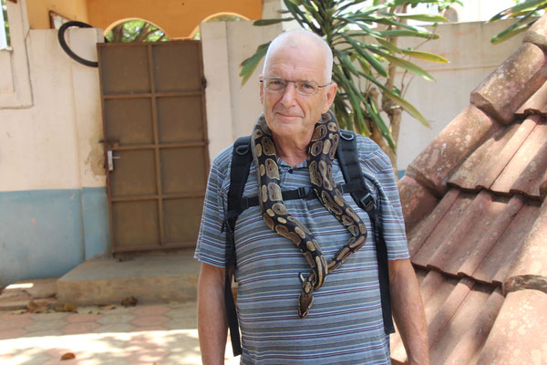 Ich mit einer Pythonschlange