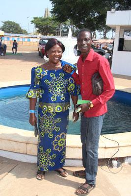 18. Zwei der Besucher, Germain und seine Frau Yvette.