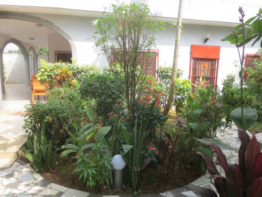 Garten mit Wohnhaus