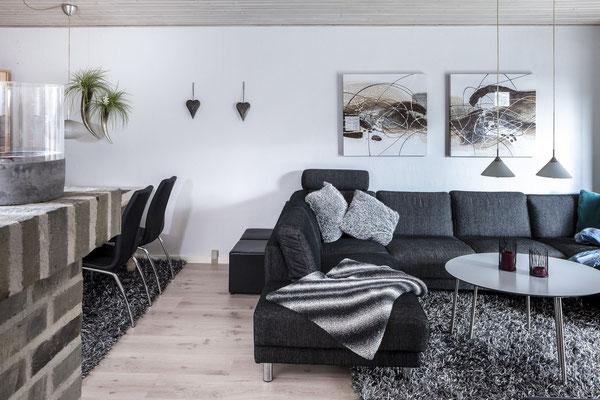 Ferienhaus in Blavand Dänemark, Wohnbereich
