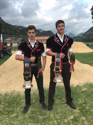 Die beiden Sieger in ihren Kategorien Nägeli Lorenz und Leandro